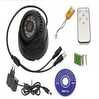 CCTV Dome DVR Camera TV-Out SD-Card Motion Detection night vision Play Back