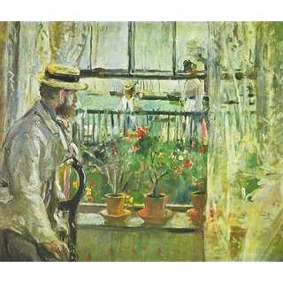 The Museum Outlet - Eugene Manet on the Isle of Wight by Morisot - Poster Print Online Buy (24 X 32 Inch)