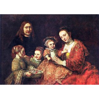 The Museum Outlet - Family Portrait by Rembrandt - Poster Print Online Buy (24 X 32 Inch)