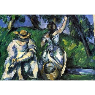 The Museum Outlet - Figures by Cezanne - Poster Print Online Buy (24 X 32 Inch)
