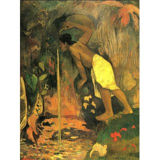 The Museum Outlet - Mysterious Source by Gauguin - Poster Print Online Buy (24 X 32 Inch)