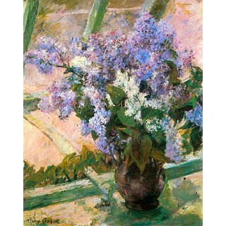 The Museum Outlet - Flowers in the window by Cassatt - Poster Print Online Buy (24 X 32 Inch)