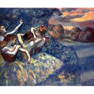 The Museum Outlet - Four Dancers by Degas - Poster Print Online Buy (24 X 32 Inch)
