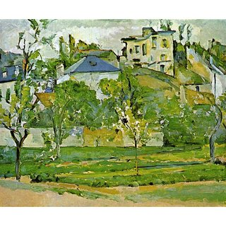 The Museum Outlet - Fruit garden in Pontoise by Cezanne - Poster Print Online Buy (24 X 32 Inch)