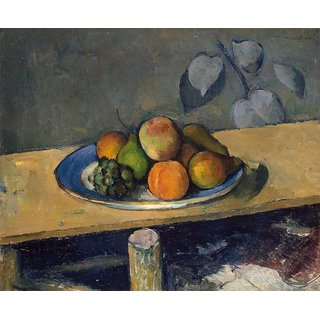 The Museum Outlet - Still Life with Apples, Peaches, Pears and Grapes, 1879-80 - Poster Print Online Buy (24 X 32 Inch)