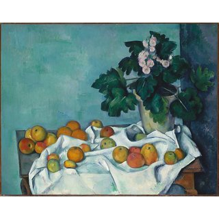 The Museum Outlet - Still Life with Apples and a Pot of Primroses, 1890 - Poster Print Online Buy (24 X 32 Inch)