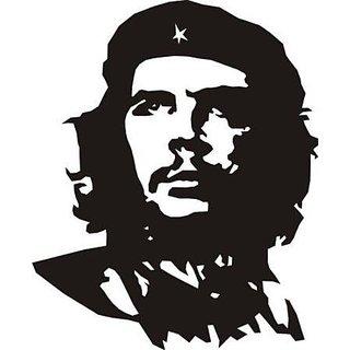 Che Guevara Hood, Bumper, Sides, Windows Car Sticker (Black)