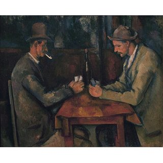 The Museum Outlet - The Card Players, 1890-95 - Poster Print Online Buy (24 X 32 Inch)