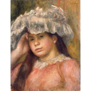The Museum Outlet - Young Girl in a Hat, 1892-94 - Poster Print Online Buy (24 X 32 Inch)