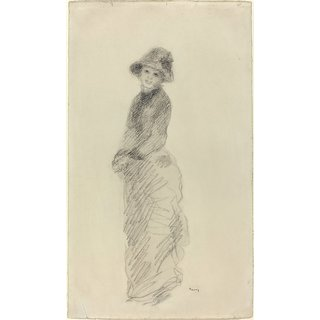 The Museum Outlet - Young Woman Standing, 1880 - Poster Print Online Buy (24 X 32 Inch)