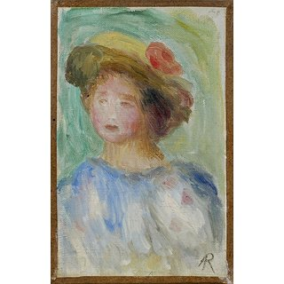 The Museum Outlet - Young Woman in Hat - Poster Print Online Buy (24 X 32 Inch)