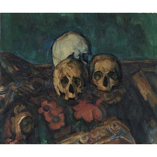 The Museum Outlet - Three Skulls on an Oriental Rug, 1904 - Poster Print Online Buy (24 X 32 Inch)