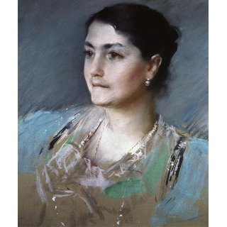 The Museum Outlet - Portrait of Mrs. William Chase, 1900 - Poster Print Online Buy (24 X 32 Inch)