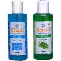 Khadi 1 Aqua Cool Face Wash And 1 Neem Body Wash Combo
