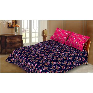 Blush Serene Double Bedsheet with 2 Pillow Cover 3PCS Set