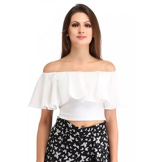 4d3aaf25c47 Buy Cation white crop top Online   ₹1400 from ShopClues