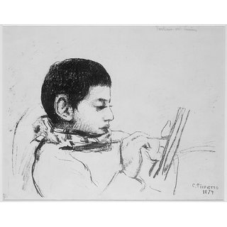The Museum Outlet - Portrait of Lucien, 1874 - Poster Print Online Buy (24 X 32 Inch)