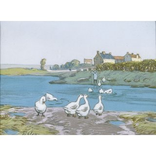 The Museum Outlet - Geese (By the River Loing) 04 - Poster Print Online Buy (30 X 40 Inch)