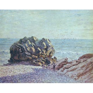 The Museum Outlet - Langland Bay, Storr's Rock, Evening, 1897 - Poster Print Online Buy (30 X 40 Inch)