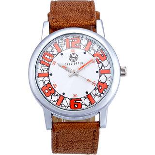 Shostopper Geometric White Dial Analogue Watch For Men - SJ60004WM