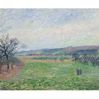 The Museum Outlet - The Hills of Gisors, Grey Weather, 1885 - Poster Print Online Buy (24 X 32 Inch)
