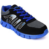 Action Men'S Grey  Blue Lace Up Sport Shoes