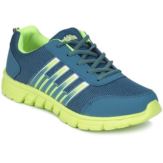 Action Men'S Blue  Green Lace Up Sport Shoes