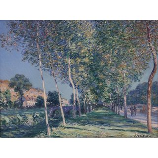 The Museum Outlet - Alley of Poplars in the Outskirts of Moret-sur-Loing, 1890 - Poster Print Online Buy (30 X 40 Inch)