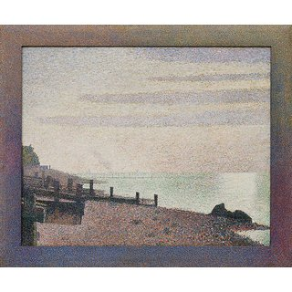 The Museum Outlet - Seurat - Evening, Honfleur - Poster Print Online Buy (24 X 32 Inch)