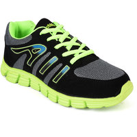 Action Men'S Grey  Green Lace Up Sport Shoes