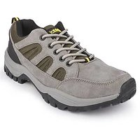 Action Men'S Grey  Yellow Lace Up Sport Shoes