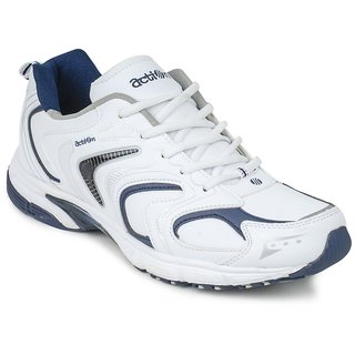 Action Men'S White  Blue Lace Up Sport Shoes