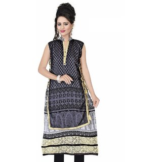 Nilkanth Enterprise Grey Chiffon stitched Straight Kurtis