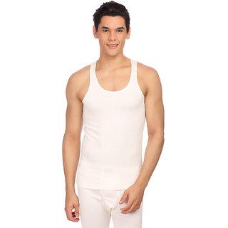 Neva White Plain Upper Thermal For Men
