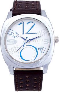 Shostopper Exotic White Dial Analogue Watch For Men - SJ60016WM