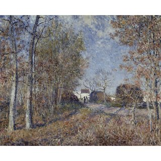 The Museum Outlet - Edge of Fontainbleau Forest, near Moret-sur-Loing - Poster Print Online Buy (30 X 40 Inch)