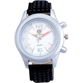Shostopper Exquisite White Dial Analogue Watch For Men - SJ60015WM