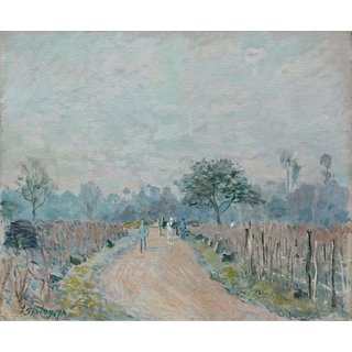 The Museum Outlet - The Road of Prunay at Bougival, 1874 - Poster Print Online Buy (30 X 40 Inch)