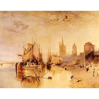 The Museum Outlet - Arrival of boat, Cologne by Joseph Mallord Turner - Poster Print Online Buy (24 X 32 Inch)