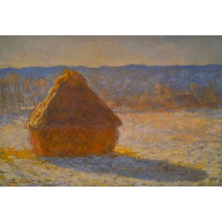 The Museum Outlet - Haystacks in Snow by Monet - Poster Print Online Buy (24 X 32 Inch)