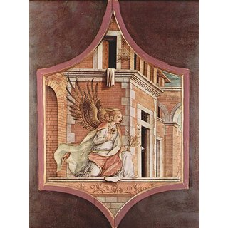 The Museum Outlet - Altartriptychon, linker Aufsatz - Verkundigungsengel - Poster Print Online Buy (24 X 32 Inch)