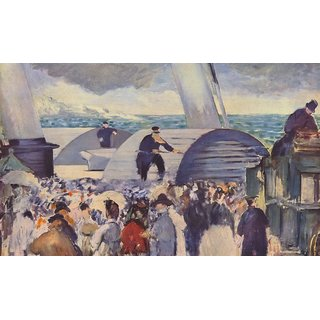 The Museum Outlet - Embarkation after Folkestone by Manet - Poster Print Online Buy (24 X 32 Inch)