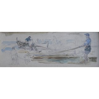 The Museum Outlet - Fishermen - Poster Print Online Buy (24 X 32 Inch)