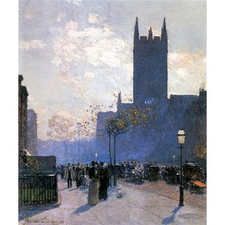 The Museum Outlet - Lower Fifth Avenue by Hassam - Poster Print Online Buy (24 X 32 Inch)
