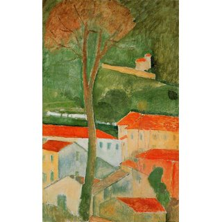 The Museum Outlet - Modigliani - Landscape 2 - Poster Print Online Buy (24 X 32 Inch)