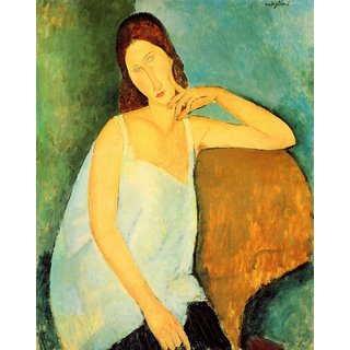 The Museum Outlet - Modigliani - Portrait of Jeanne Hebuterne 4 - Poster Print Online Buy (24 X 32 Inch)