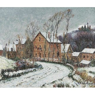 The Museum Outlet - The Snow at Puys near Dieppe, 1904 - Poster Print Online Buy (24 X 32 Inch)