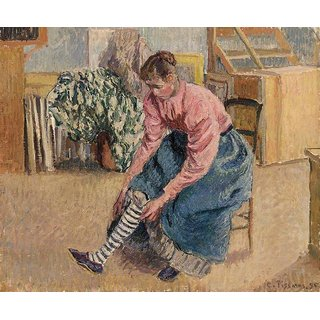 The Museum Outlet - Woman Putting on Her Stockings, 1895 - Poster Print Online Buy (24 X 32 Inch)