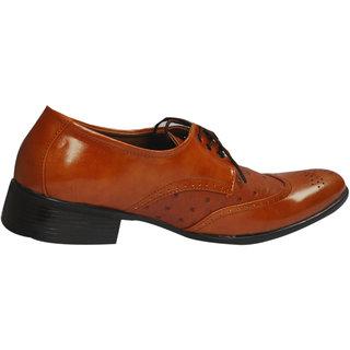 Mclaine Premium Tan Dotted Design Party Wear Shoes