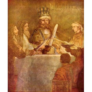 The Museum Outlet - Batavian conspiracy, detail by Rembrandt - Poster Print Online Buy (24 X 32 Inch)